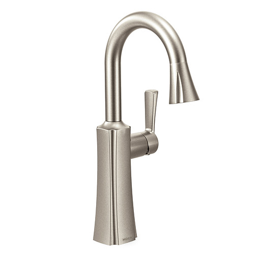 Etch Spot resist stainless One-Handle High Arc Pulldown Bar Faucet