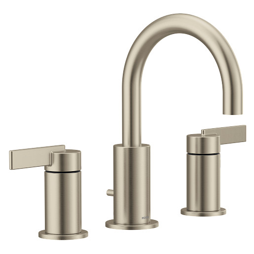 Cia Brushed nickel two-handle bathroom faucet