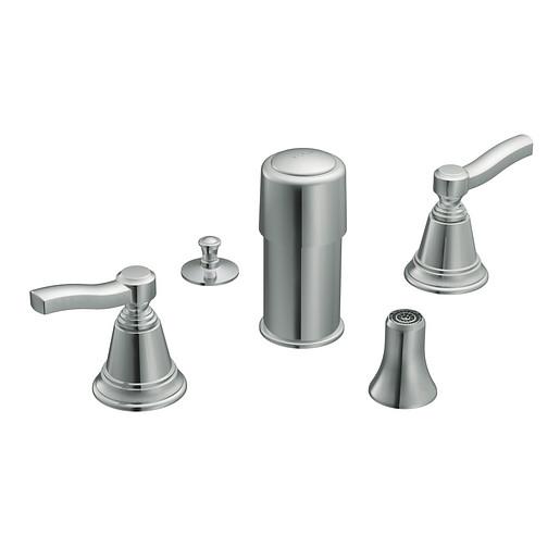 Rothbury Chrome two-handle bidet faucet