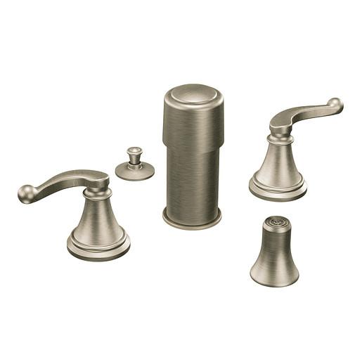 Savvy Brushed nickel two-handle bidet faucet