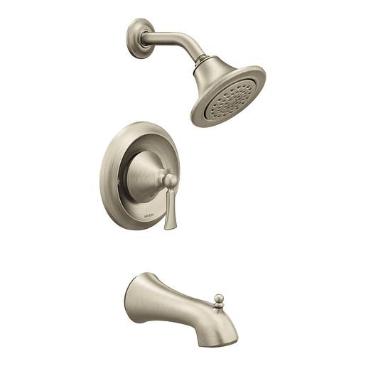 T4503EPBN - Wynford Brushed nickel Posi-Temp® Eco-Performance Tub/Shower