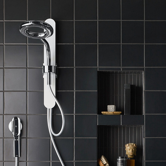 Nebia Spa Shower in Chrome and White