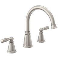 Banbury Spot Resist Brushed Nickel Two-Handle High Arc Roman Tub Faucet