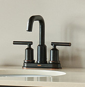 Gibson Mediterranean Bronze Two-Handle High Arc Bathroom Faucet WS84228BRB