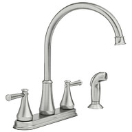 Stevie Spot Resist Stainless Two-Handle High Arc Kitchen Faucet