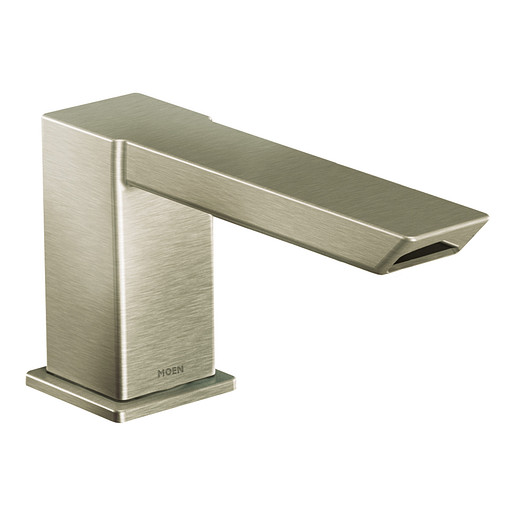 90 Degree Brushed nickel diverter roman tub faucet includes IoDIGITAL® technology