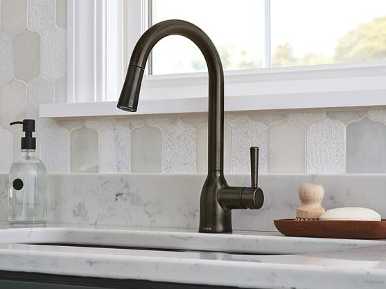 Keep backsplash tile sizes and shapes to a minimum