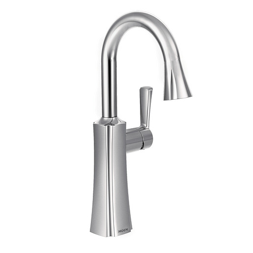 Etch Chrome One-Handle High Arc Pulldown Bar Faucet