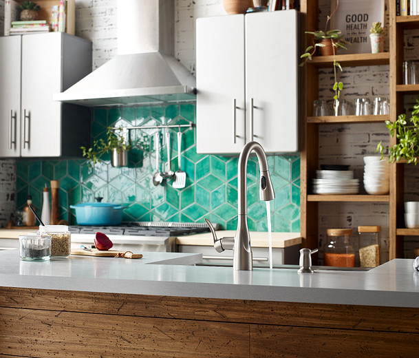 8oclock Arlo MotionSense Wave Spot Resist Stainless One-Handle Pulldown Kitchen Faucet