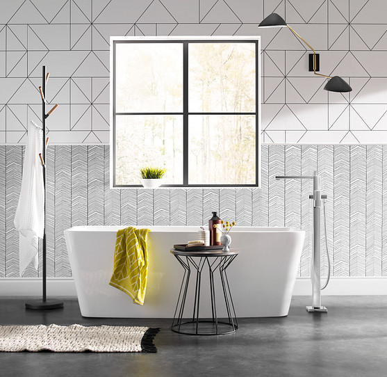 Tile, hot new hues and touchable textures make it extremely different and exciting
