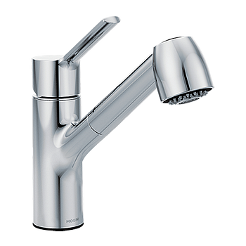 11oclock Method Chrome One-Handle Pullout Kitchen Faucet