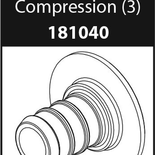 Commercial Parts & Accessories PEX Adapter Compression (Package of 3)