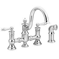 Waterhill Chrome Two-Handle High Arc Kitchen Faucet