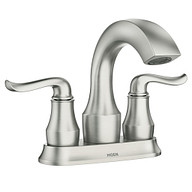 Hamden Spot Resist Brushed Nickel Two-Handle High Arc Bathroom Faucet
