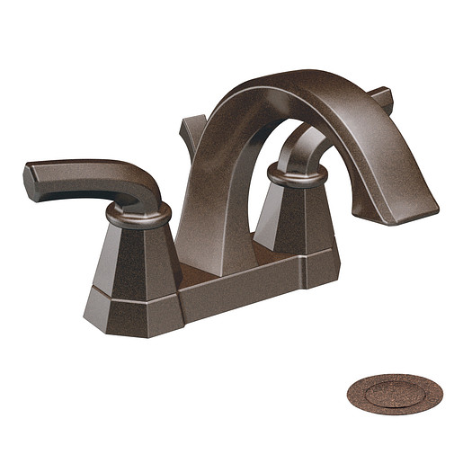 Felicity Oil rubbed bronze two-handle high arc bathroom faucet