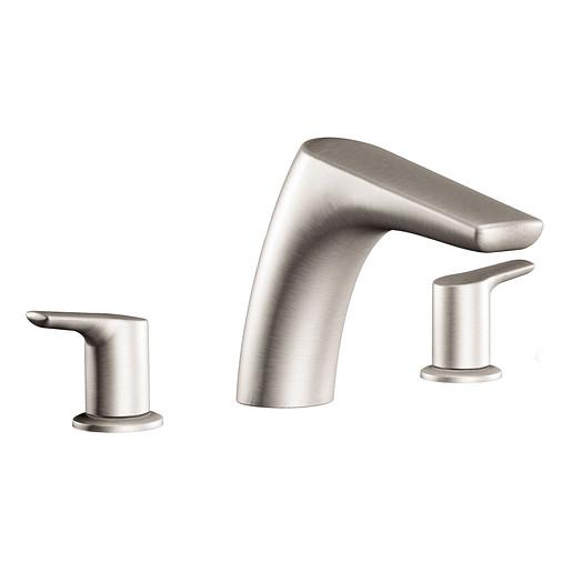 Method Brushed nickel Two-Handle Low Arc Roman Tub Faucet