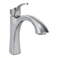 Voss Chrome One-Handle High Arc Pullout Kitchen Faucet