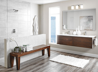 Via Chrome Faucet in Luxury Bathroom