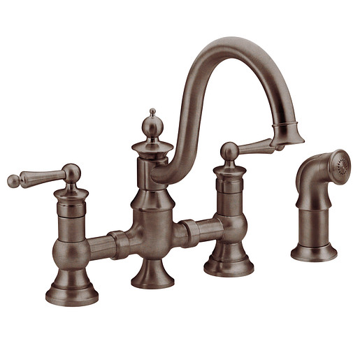 Waterhill Oil Rubbed Bronze Two-Handle High Arc Kitchen Faucet