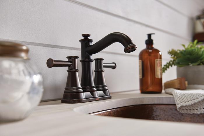 Moen Belfield two-handle bathroom faucet