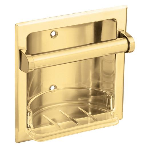 Donner Commercial Polished brass soap holder