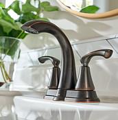 Tiffin Mediterranean Bronze Two-Handle High Arc Bathroom Faucet WS84876BRB