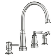 Edison Spot Resist Stainless One-Handle High Arc Kitchen Faucet