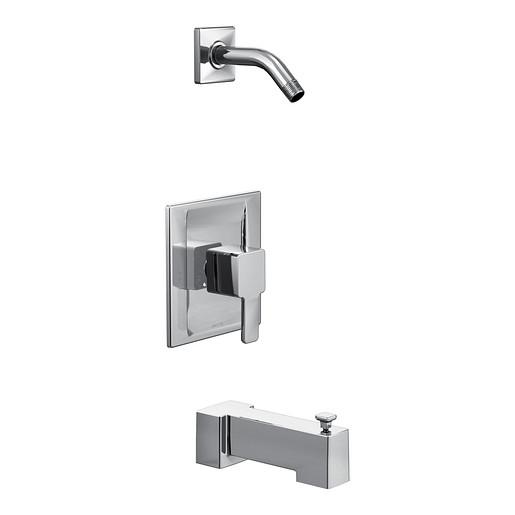 90 Degree Chrome Posi-Temp® tub/shower