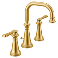 Colinet Brushed gold two-handle high arc bathroom faucet