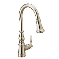 Weymouth Polished Nickel One-Handle High Arc Pulldown Kitchen Faucet