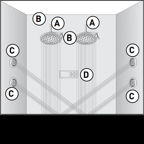 U by Moen Shower Configuration Option B