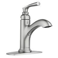 Hilliard Spot Resist Brushed Nickel One-Handle High Arc Bathroom Faucet