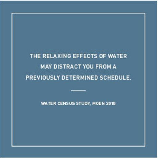 Relaxing Effects of Water