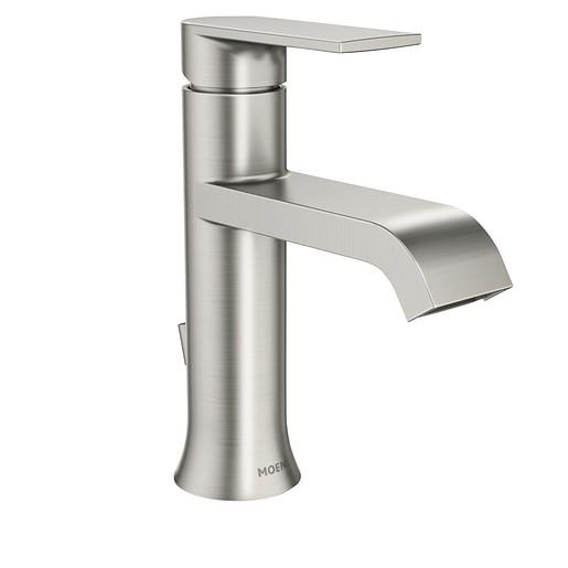Genta Spot Resist Brushed Nickel One-Handle Bathroom Faucet