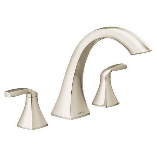Voss Polished nickel Two-Handle High Arc Roman Tub Faucet