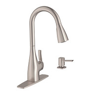 Kiran Spot Resist Stainless One-Handle High Arc Pulldown Kitchen Faucet