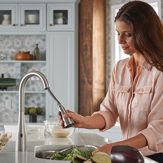 Arbor One-Handle High Arc MotionSense Wave Pulldown Kitchen Faucet