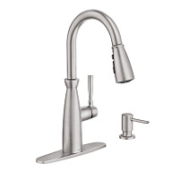 Surie Spot Resist Stainless One-Handle High Arc Pulldown Kitchen Faucet