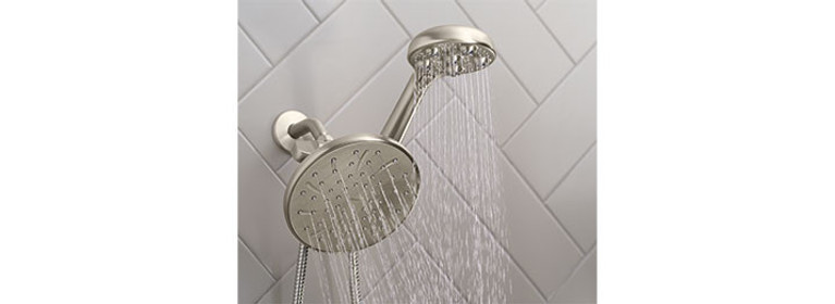 Hydro Roller™ Massage Combination Shower in Spot Resist Brushed Nickel Model 205C0SRN