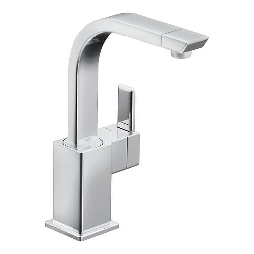 90 Degree Chrome One-Handle High Arc Bar Faucet