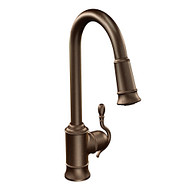 Woodmere Oil rubbed bronze One-Handle High Arc Pulldown Kitchen Faucet