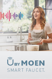 U by Moen Smart Faucet Voice Activation