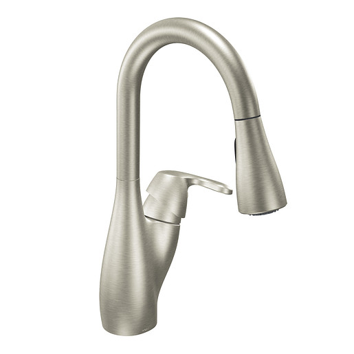 Medora Classic stainless one-handle high arc pulldown kitchen faucet