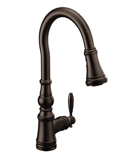 Weymouth Oil Rubbed Bronze One-Handle High Arc Pulldown Kitchen Faucet
