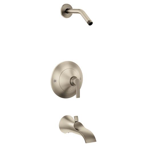 Doux Brushed nickel Posi-Temp® Tub/Shower