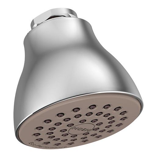 "Moen Chrome One-Function 2 1/2"" Diameter Spray Head Eco-Performance Showerhead"