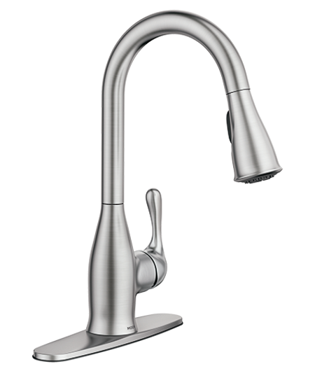 Kaden Spot Resist Stainless One-Handle Pulldown Kitchen Faucet 87966srs
