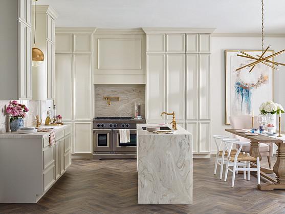 marble cream kitchen
