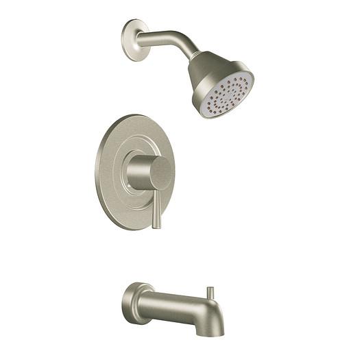 Level Brushed nickel Posi-Temp® tub/shower