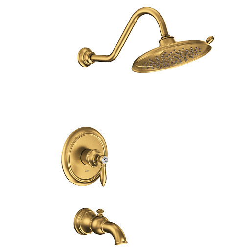 Weymouth Brushed Gold M-CORE 2-Series Tub/Shower
